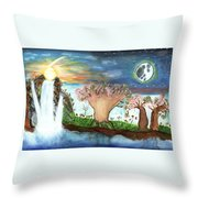 My Beloved And Me Throw Pillow