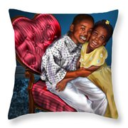 My Big Brother-my Little Sister1 Throw Pillow