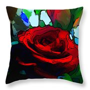 My Birthday Rose Throw Pillow