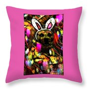 My Bitch With Treats Throw Pillow