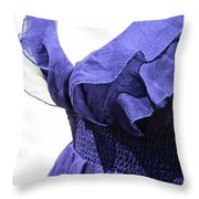 My Blue Dress Throw Pillow