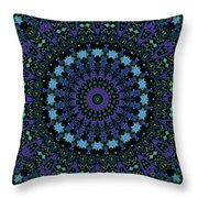 My Blue Garden Throw Pillow