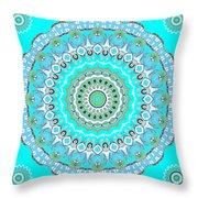 My Blue Heaven Mandala Throw Pillow