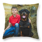 My Brother And The Dog 2 Throw Pillow