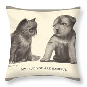 My But You Are Bashful Throw Pillow