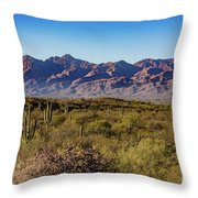 My Catalina Mountains Throw Pillow