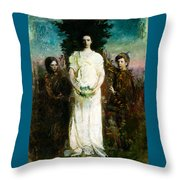 My Children Mary Gerald And Gladys Thayer Throw Pillow