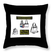 My Clear Backpack Throw Pillow