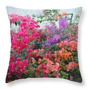 My Colorful Bouganville Throw Pillow