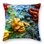 My Colorful Palette Throw Pillow