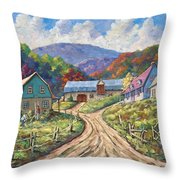 My Country My Village Throw Pillow