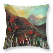 My Days In The Mountains Throw Pillow