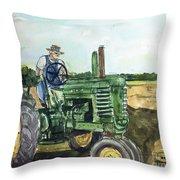 My Dear John Deere Throw Pillow