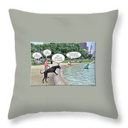 My Dog Tiny Throw Pillow