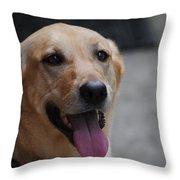 My Dog Ubu Throw Pillow