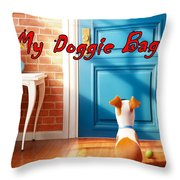 My Doggie Bag  Throw Pillow