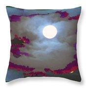 My Dream Moon Moonshine Sky Throw Pillow