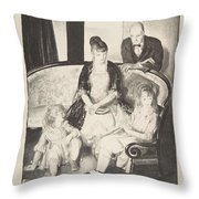 My Family, Second Stone George Bellows  Throw Pillow