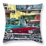 My Fathers' Cars Throw Pillow