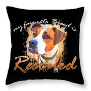 My Favorite Breed Is Rescued Watercolor 5 Throw Pillow
