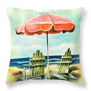 My Favorite Secret Beach Spot Throw Pillow