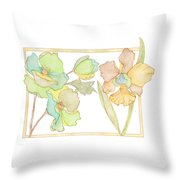 My Favourite Flowers Throw Pillow