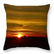 My First 2016 Sunset Photo Throw Pillow