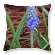 My First Bluebells Throw Pillow