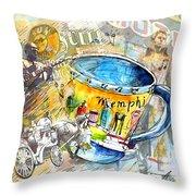 My First Memphis Mug Throw Pillow