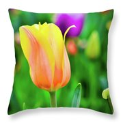 My First Tulip Throw Pillow