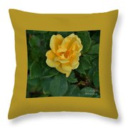 My First Yellow Rose Throw Pillow
