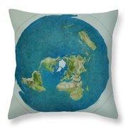 My Flat Earth Throw Pillow