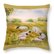 My Flock Of Sheep Throw Pillow