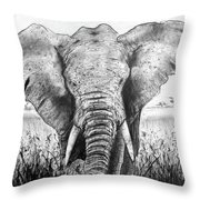 My Friend The Elephant II Throw Pillow