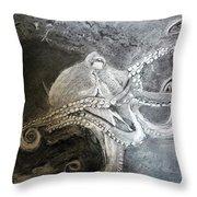 My Friend The Octopus Throw Pillow