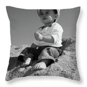 My Future Is Not Here Throw Pillow