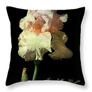 My Girl Iris  Throw Pillow