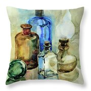 My Glass Collection II Throw Pillow