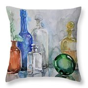 My Glass Collection IIi Throw Pillow