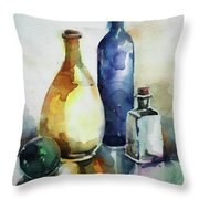My Glass Collection Iv Throw Pillow