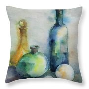My Glass Collection V Throw Pillow