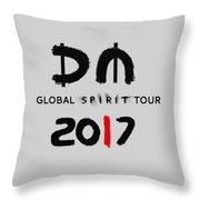 My Global Spirit Tour 2017 - Black Throw Pillow