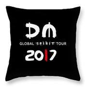 My Global Spirit Tour 2017 - White Throw Pillow