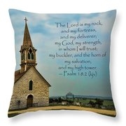 My God My Strength My Salvation Throw Pillow