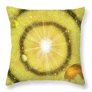 My Golden Universe Throw Pillow