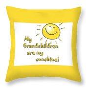 My Grand Children Throw Pillow