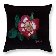 My Grandma's Rose Throw Pillow