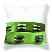 My Green Tambourine Throw Pillow