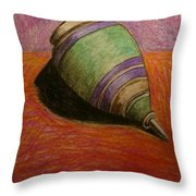 My Green Trompo Throw Pillow