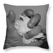 My Hand By Hans Throw Pillow